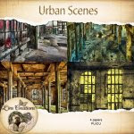 Urban scene papers (CU) by Lins Creations