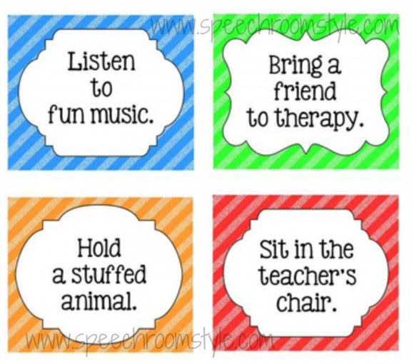 Reward Coupons for Speech Therapy - Speech Room Style