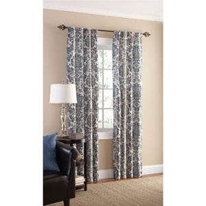 Mainstays Selma Crushed Microfiber Curtain Panel, Set of 2