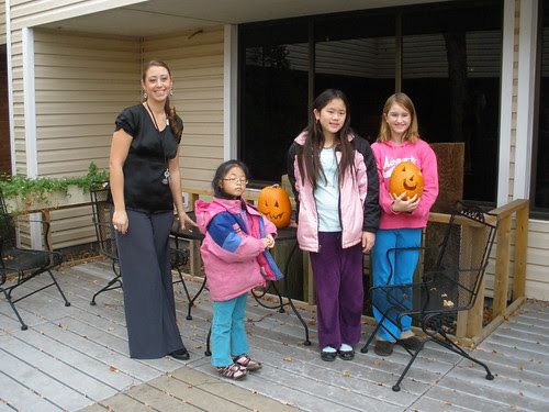 Setting Up Pumpkins in Memory Care Area