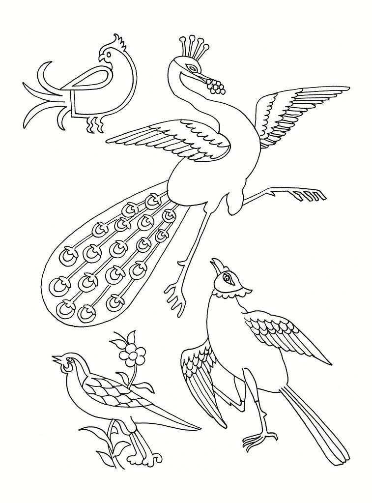 East Asian Designs - stylised birds a