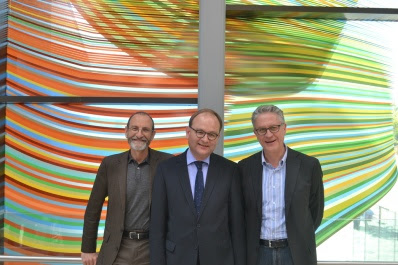 The three IPCC co-chairs who were at the Exeter conference, from left to right, Chris Field, Ottmar Edenhofer, Thomas Stocker. The IPCC report is split into three main parts, or working groups, each led by two 'co-chairs'. Within each working group there are many chapters, with scientists serving as lead authors or authors on those chapters. Image credit University of Exeter, used via Flickr Creative Commons licence.