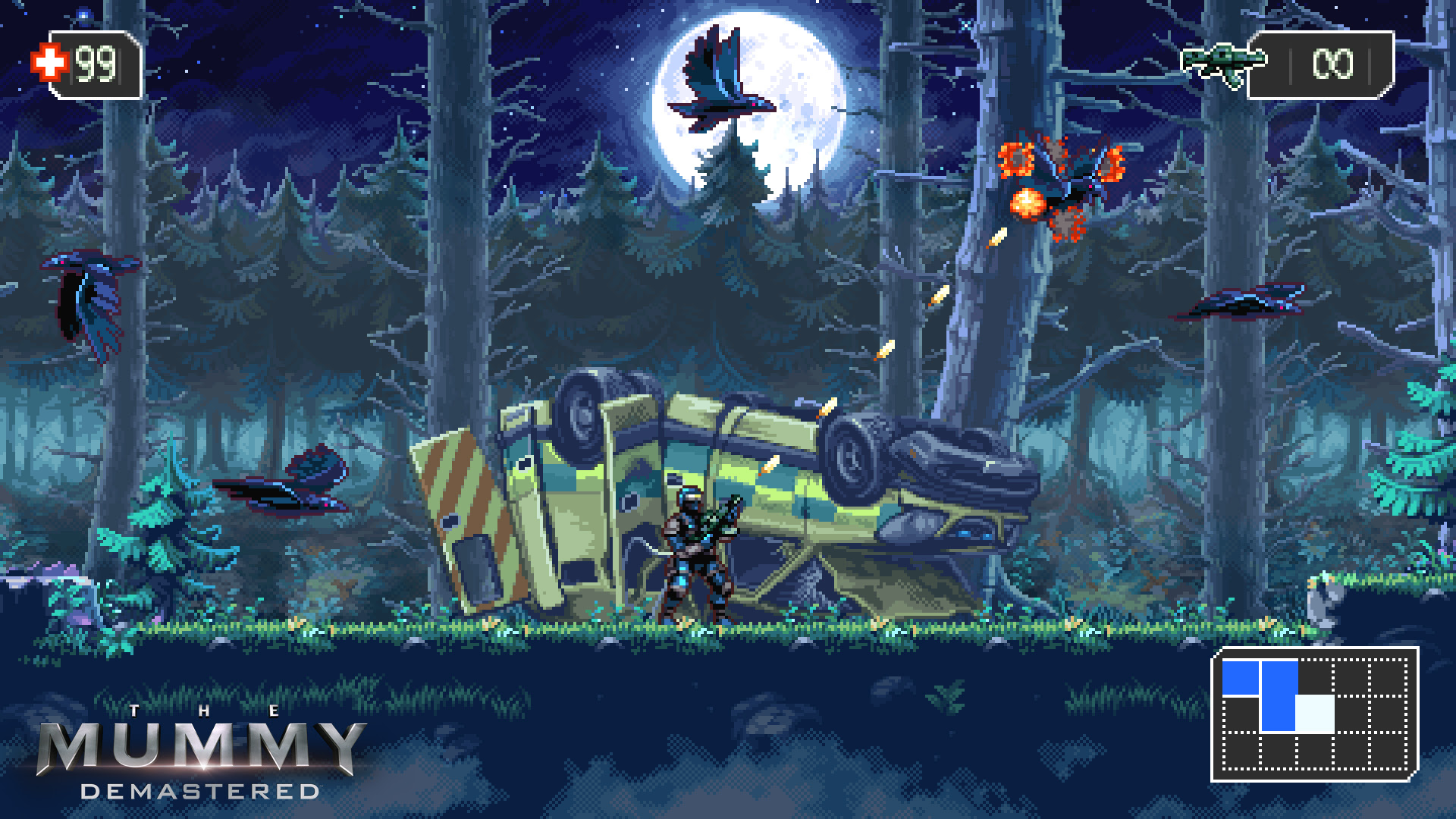 The Mummy Demastered is a WayForward jam screenshot