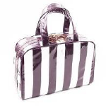 Trina Kelly Stripe Plum 4pc Deluxe Weekender