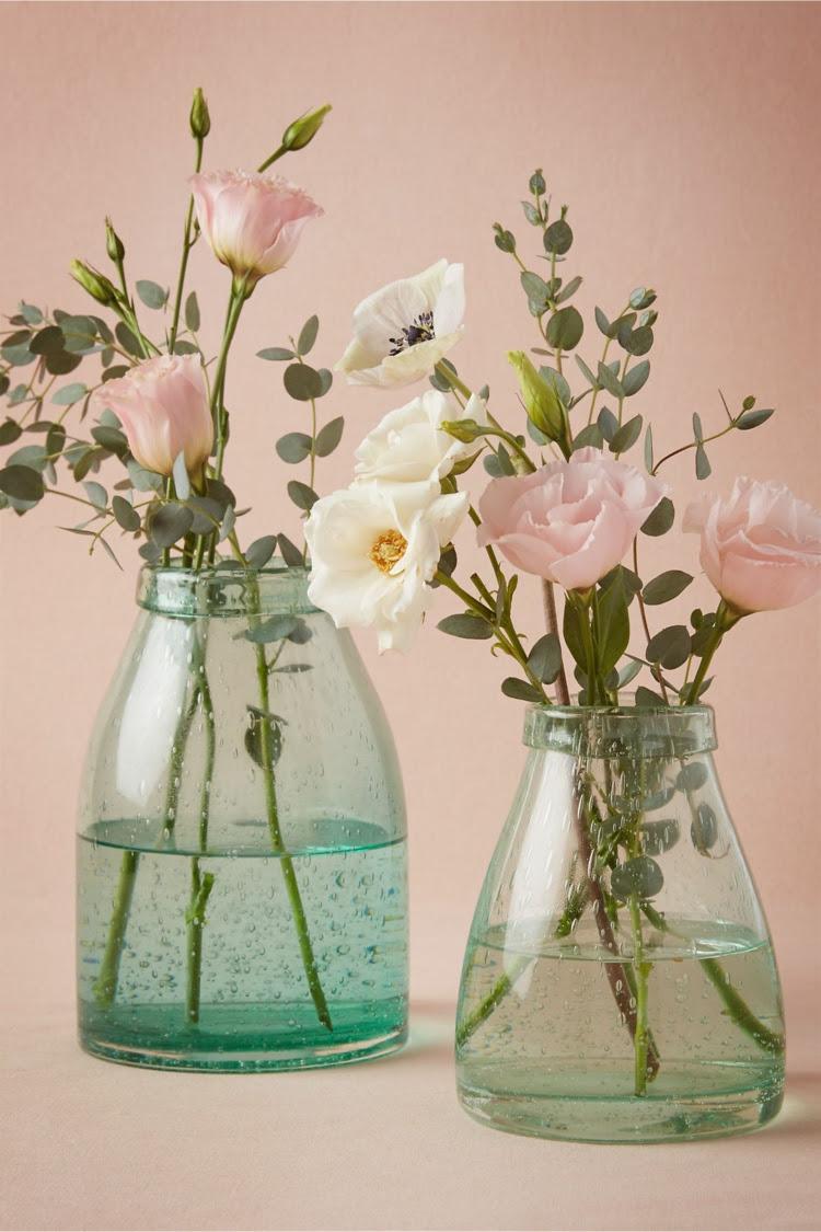 decoration vase verre florale