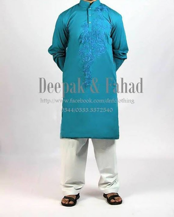 Mens-Boy-New-Summer-Eid-Dress-Kurta-Kamiz-Salwar-Pajama-2013-by-Deepak-Fahad-9