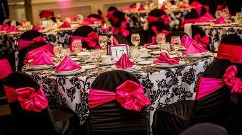 Hot Pink, Black, and White Wedding Theme.   Pink, black