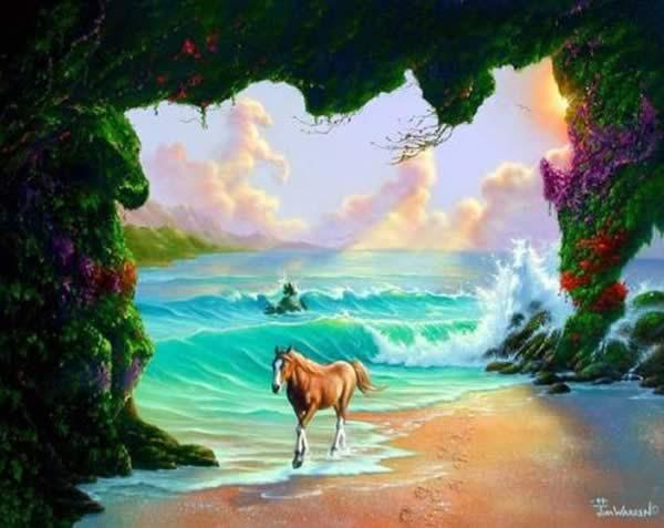 Quantos cavalos tem na imagem