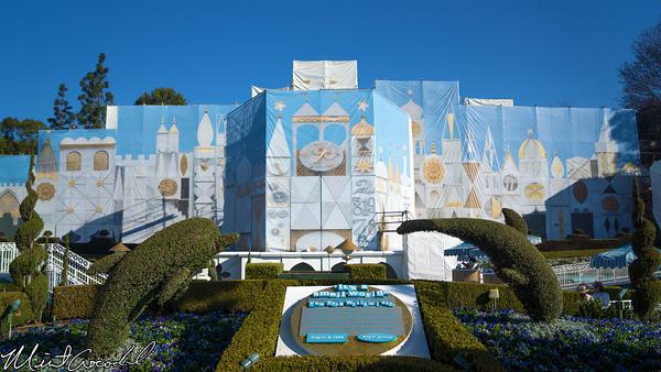 Disneyland Resort, Disneyland, it's a small world, Tarp, Scrim, Facade, Refurbishment, Refurb, Refurbish