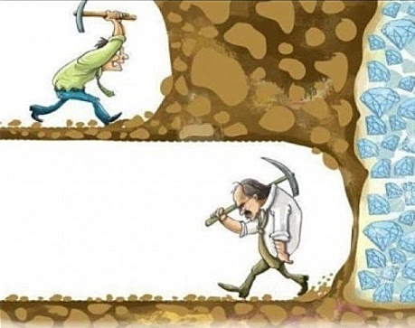 Image result for don't give up wall digging picture