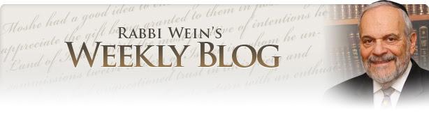 Rabbi Wein's Weekly Blog