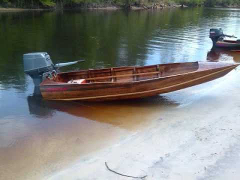 """Dixie Twister too"""" Tunnel strip boat TOP GUN of wood boats - YouTube"""
