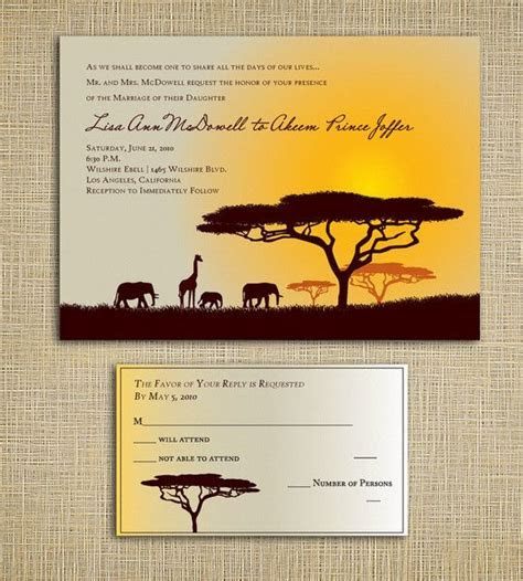 Safari Love   Wedding Invitations   Your Invited! in 2019