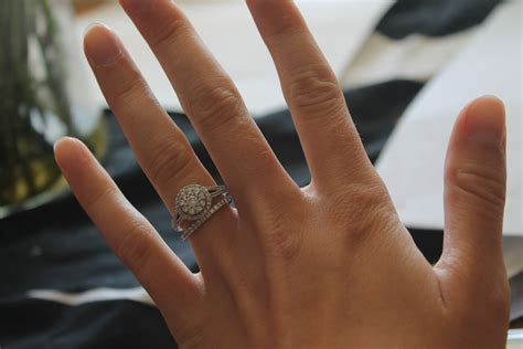 Wedding and engagement rings that don't sit flush together?