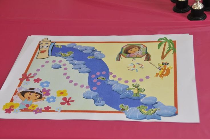 Dora Birthday Party The Map Of The Adventure We Were