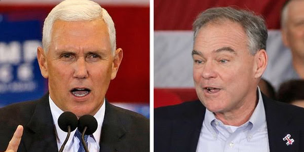 Indiana Gov. Mike Pence and Virginia Sen. Tim Kaine (Photo: Twitter)