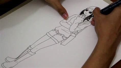 draw anime characters full body drawing tv id