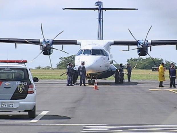 Aeronave faria escala em Marília e tinha Campinas como destino final (Foto: Reprodução/TV TEM)
