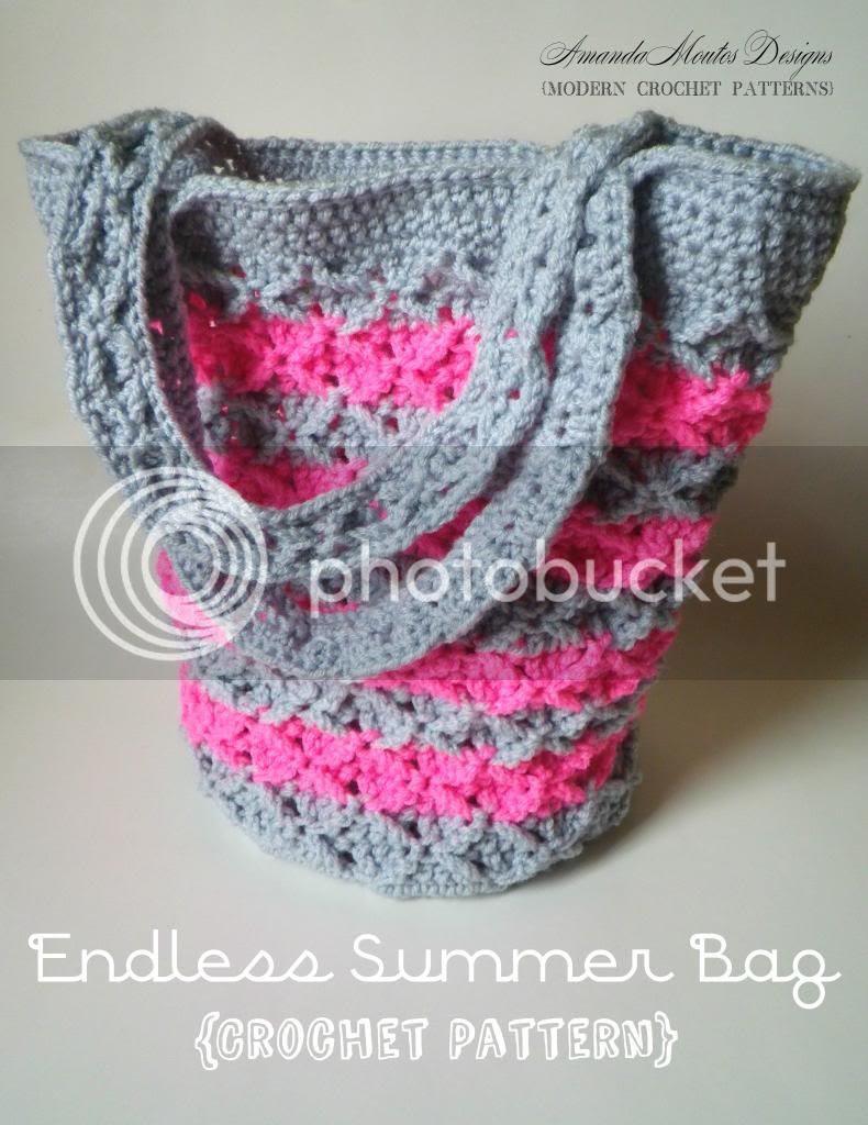 Endless Summer Bag Crochet Pattern by Amanda Moutos Designs