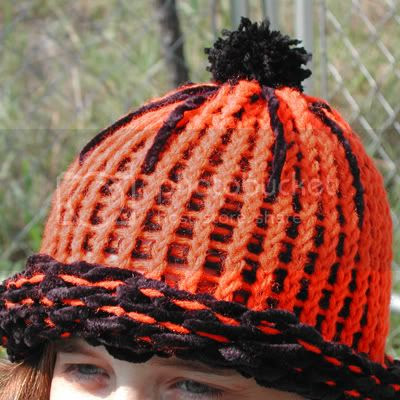 knitted spider hat