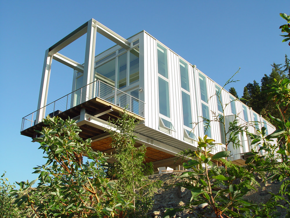 Steel Frame Cantilever House by Anderson Anderson — 人人小站