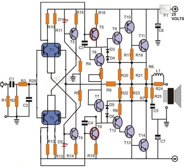 amplifier circuit of tr 1943 5200scsouid