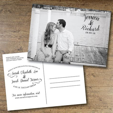 Printable Save the Date Postcard.   Someone Else's Wedding