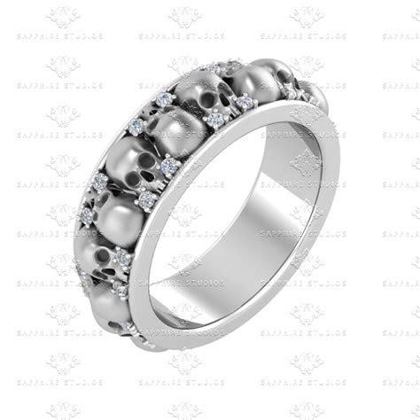 ct sterling silver white diamond wedding band