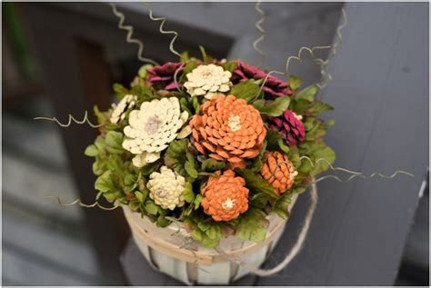 DIY Pinecone Mums Flower Arrangement Tutorial   This West