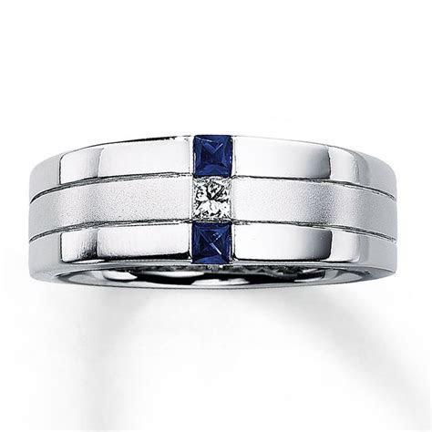 Unique Beveled Edge Mens Black Diamond Wedding Ring: Black