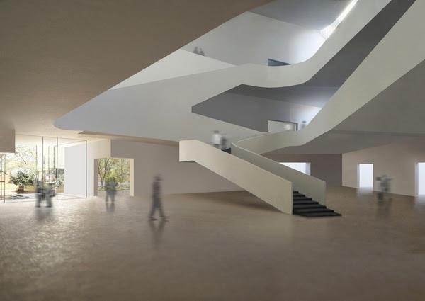 News, Shelby, Museum of Fine Arts, Kinder building lobby, January 2015