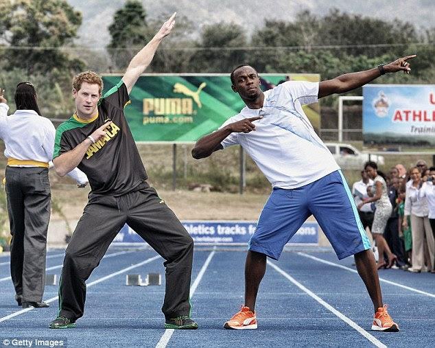 Party Pals: The Fresh Prince of Rio, Usain Bolt, 29, prometeu comemorar com o príncipe Harry na sequência da sua vitória 100m no Rio no domingo