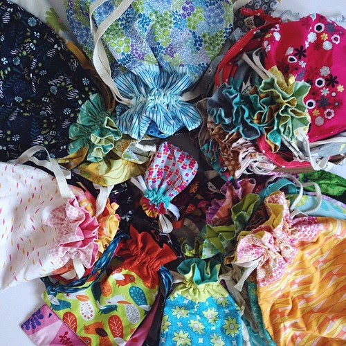 Lined Drawstring Bags by Jeni Baker