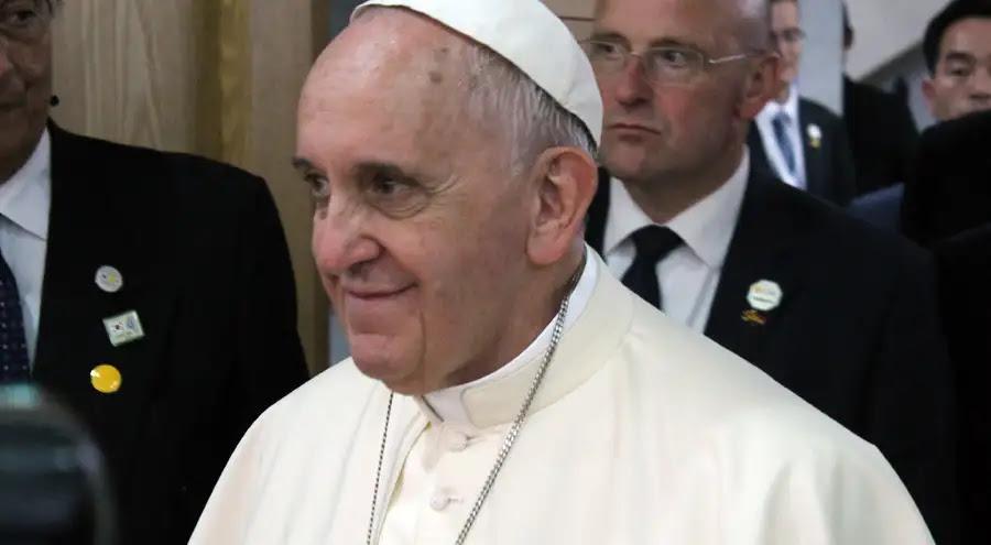 Papa Francisco en encuentro con Obispos de Corea del Sur. Foto: Alan Holdren / ACI Prensa