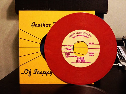 "Spells - Take Time 7"" - Red Vinyl by Tim PopKid"