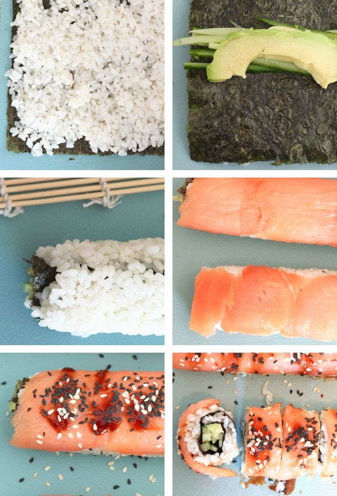 Step by Step Sushi Salmon