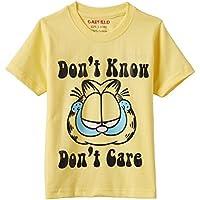 Garfield Boys' T-Shirt (B3IN016GF_Yellow_2 - 3 years)