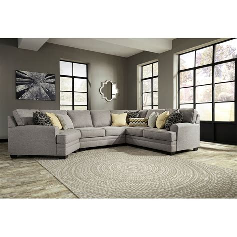 benchcraft cresson contemporary  piece sectional