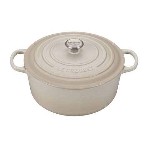 le creuset  qt signature  dutch oven wstainless