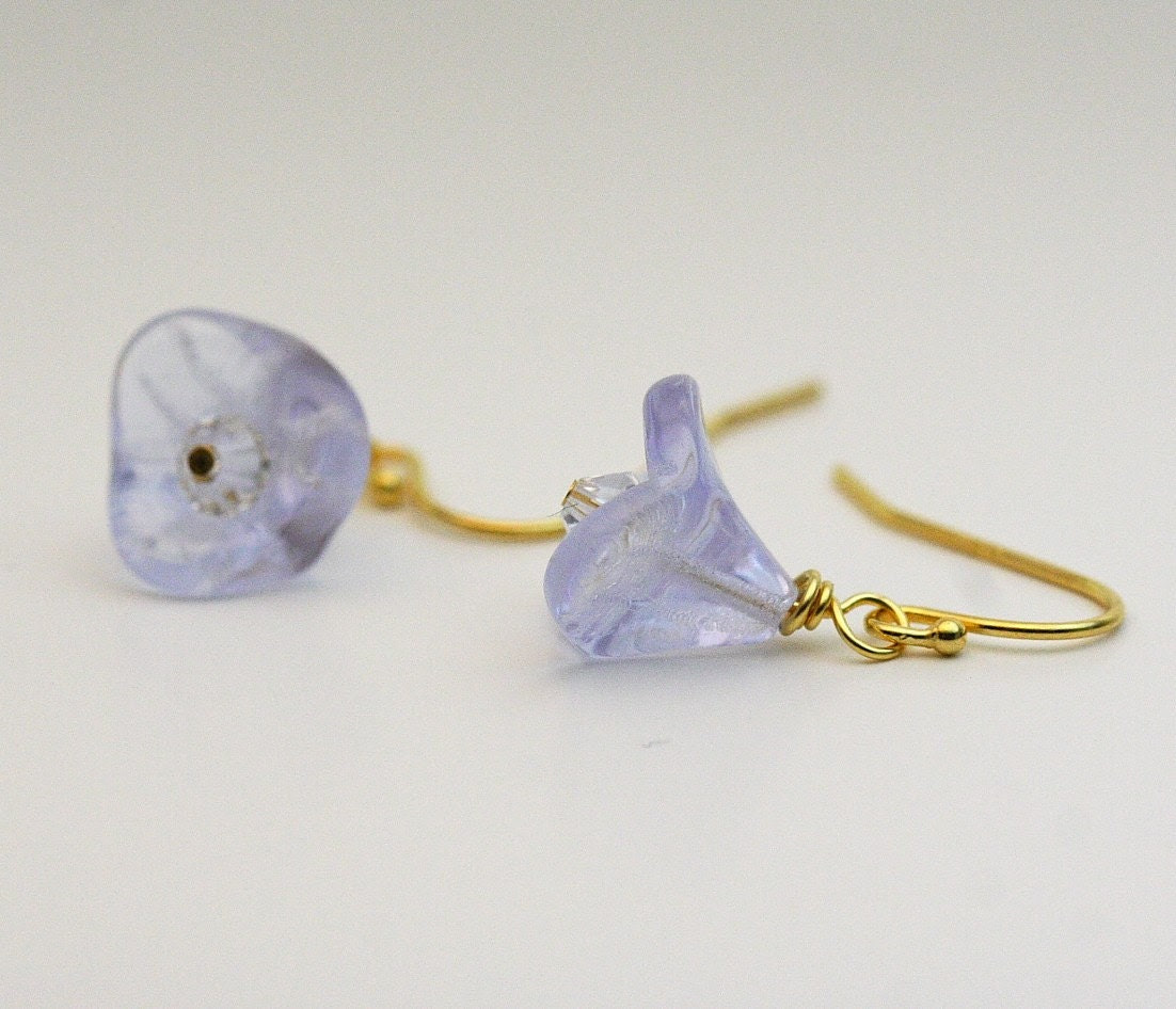 SALE - Flower Garden Earrings - Mauve