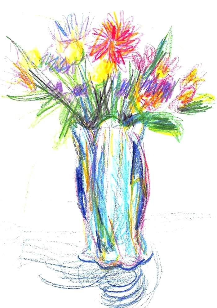 Flower Simple Easy Bouquet Of Flowers Drawing