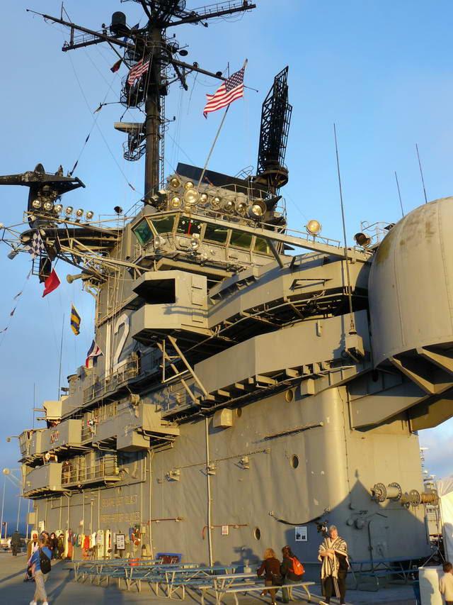 Diagonal view of the Hornet's commanding Island