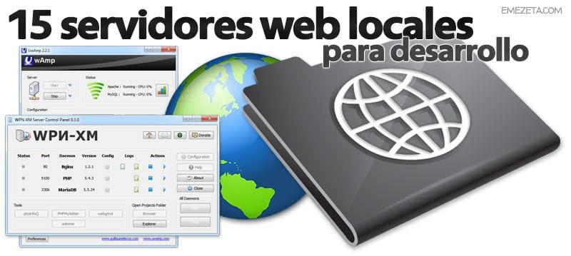Servidores web locales (WAMP, LAMP, MAMP, etc…) para desarrollo
