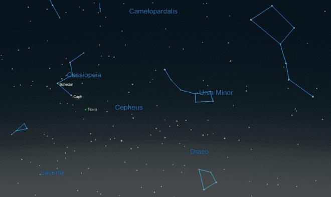 В созвездии Кассиопеи вспыхнула сверхновая