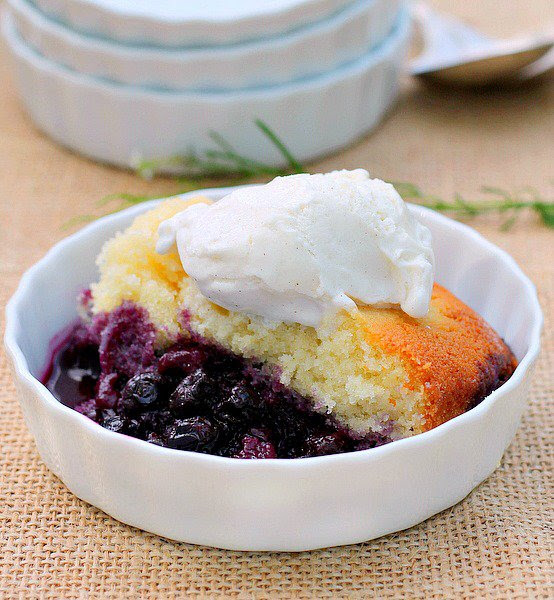 Lemon Blueberry Pudding Cake - HMLP 42