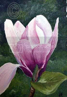 oil flower painting