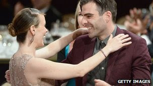 Sarah Paulson and Zachary Quinto