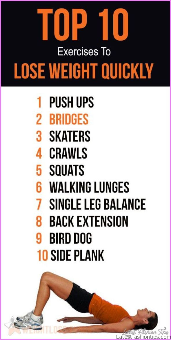 10 Exercises For Weight Loss At Home - LatestFashionTips.com