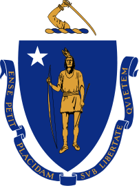 Coat of Arms of Massachusetts. Official, adopt...