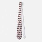 Vintage Patriotic Ribbon and Flowers tie